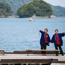 桟橋から釣りを楽しんでください♪ 当館専用桟橋です♪