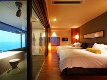 デラックス和洋室 ベッド&バス