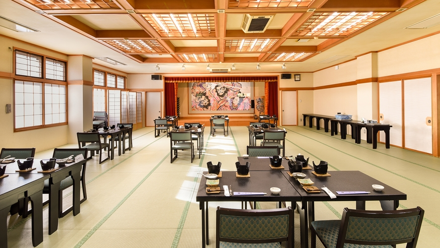 *【お食事会場】広々とした食事会場でお食事をお楽しみください