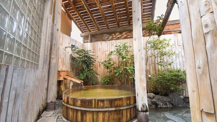 *【御湯殿~露天樽形ひば風呂~】趣のある露天風呂で癒しの時間を満喫