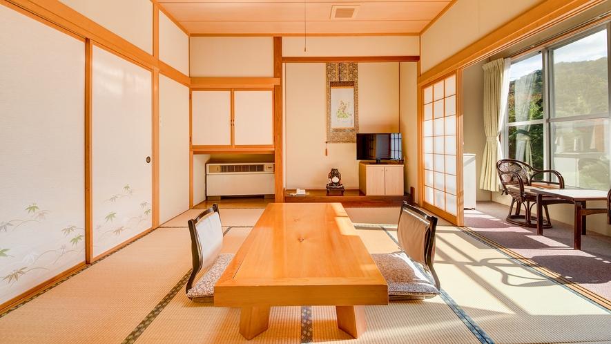 *【庭園側和室8畳】純和風のお部屋でゆっくりお寛ぎください。
