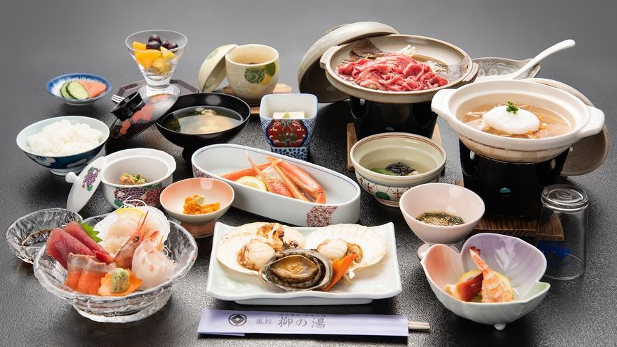 *【お料理贅沢プラン一例】せっかくの浅虫旅行、贅沢プランで海の幸をご堪能ください!