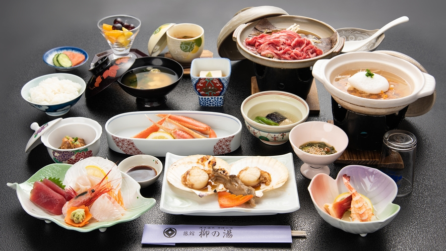 *【お料理スタンダードプラン一例】四季折々の食材を使用した和食膳です
