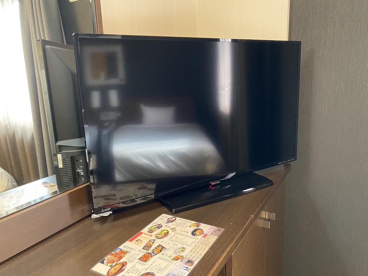 ツインルームのテレビは40インチ