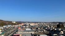 ルートインから見える一関市街地