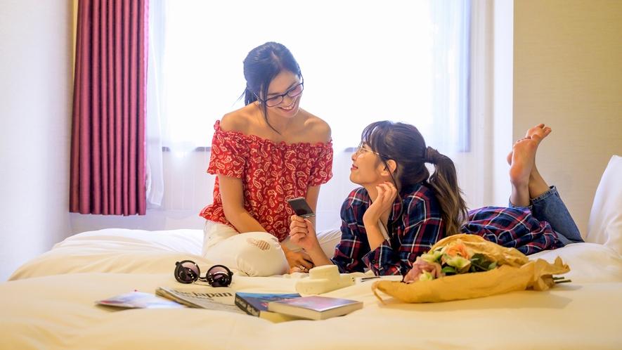客室イメージ広々としたツインのお部屋は女子旅や家族旅におすすめです