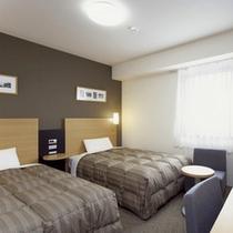 ◆ツインエコノミー◆広さ18平米◆ベッド幅123cm×2台◆小学生以下のお子様添い寝無料◆