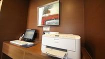 1階フロントロビーにホテル閲覧パソコン及びメールプリントサービスをご用意しております。
