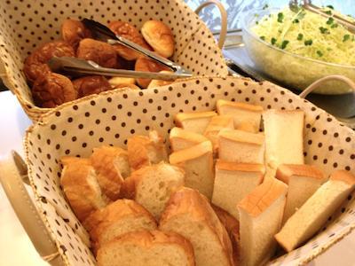 朝食の一例(パン)