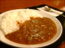 ご夕食の一例(カレー150円)