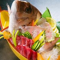 ◆鯛の尾頭付き舟盛り◆