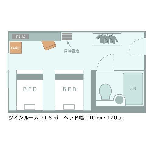 ツインルーム@間取り