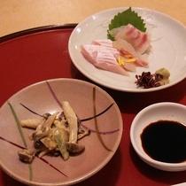【*夕食一例】季節の山海のものをどうぞ。