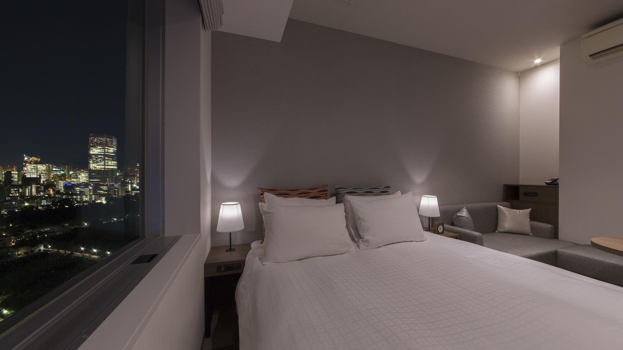 【プレミアダブル】全客室が14階から25階の高層階プレミアホテル。東京の眺望をお楽しみいただけます!
