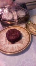 デザート fondant au chocolat