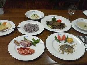 ★魚・肉両方が楽しめる夕食(一例)