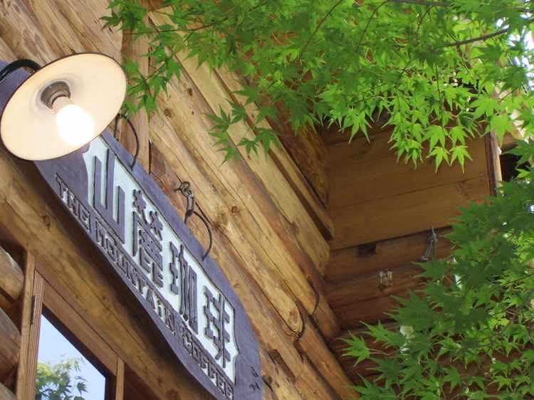 新緑とコーヒーハウス