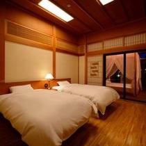 貴賓室『雅』※和室+応接間+ベッドルーム+サンルームの『貴賓室・雅』贅沢な時間が流れます。