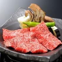 追加料理:岩手牛の陶板焼き(イメージ)