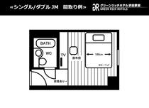 【シングル/ダブルJM】間取り例