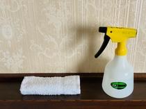 次亜塩素酸水で清掃