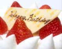 ケーキ:誕生日や記念日に如何ですか?サプライズも出来ます♪