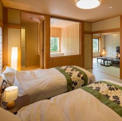 ビューバス付客室「301号室」ベッドルーム