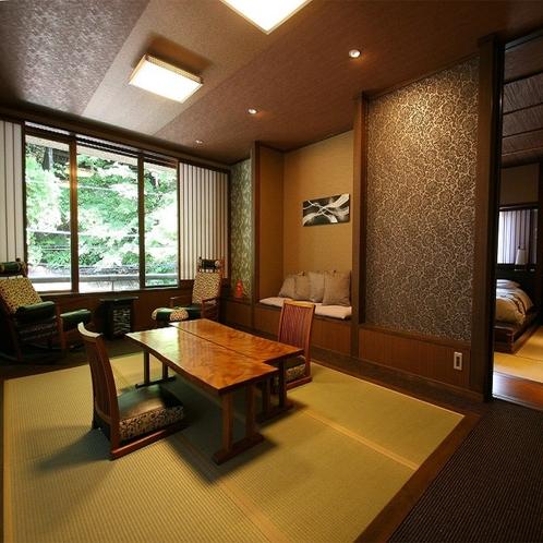 【露天風呂付客室】5階「山瀬」和室