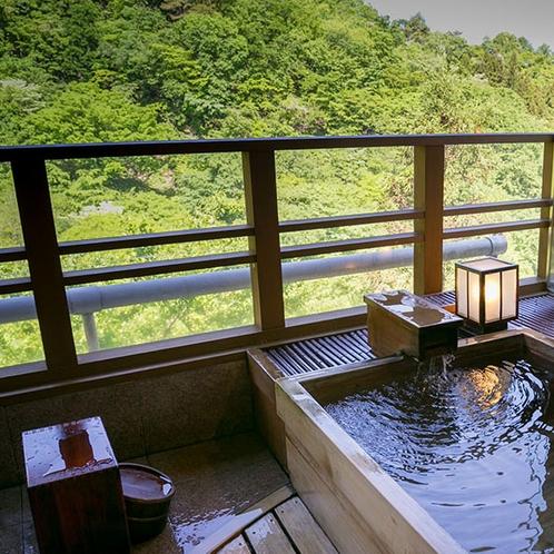 【露天風呂付客室】4階「佐保」客室露天風呂