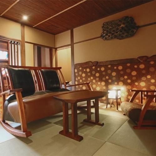 【露天風呂付客室】「野分」リビングルーム