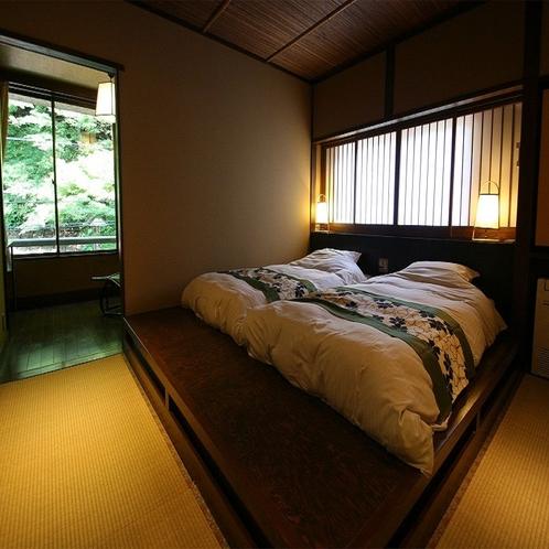 【露天風呂付客室】5階「山瀬」ベッドルーム