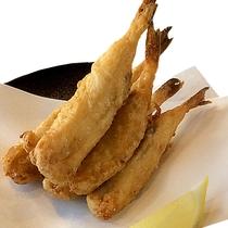 別注料理:豆フグの唐揚げ