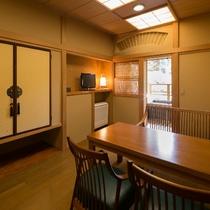 【露天風呂付客室】4階「竜田」ダイニングルーム