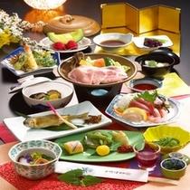 【料理 一例】 旅館たむらの和会席は、旬の山幸を中心とした上州の伝統料理をご用意いたします。