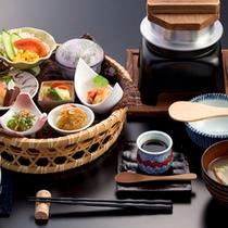 自家製米の釜飯セット
