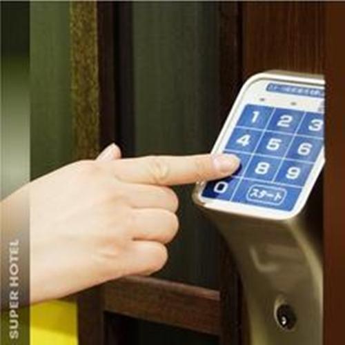 入室方法(1)お部屋へは暗証番号でお入りください
