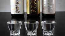 【上越地域の美味しい日本酒】利き酒セットでご提供します。