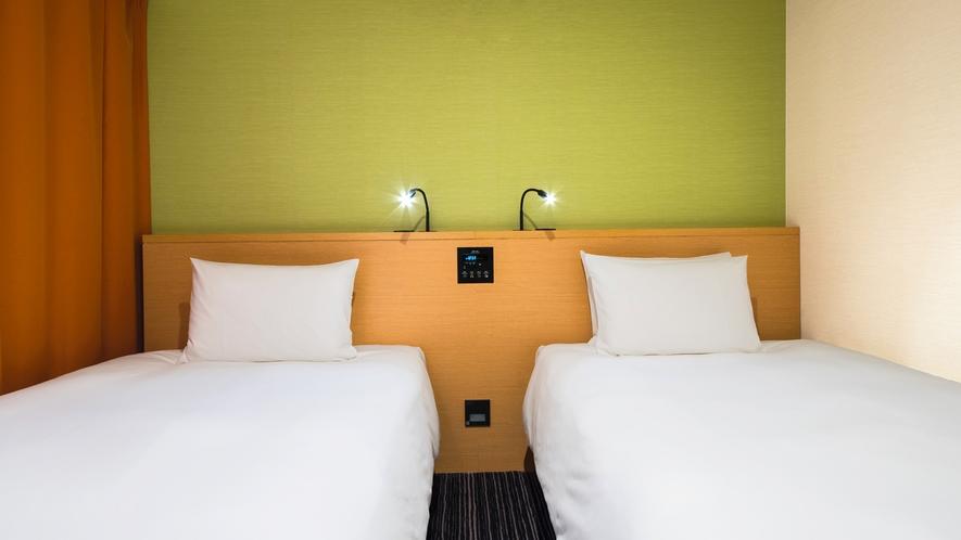 使いやすいツインのお部屋はご家族やご友人同士の旅行にオススメです