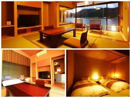 2階和洋室◆49平米(禁煙)【川側】4名以下夕食は食事処個室