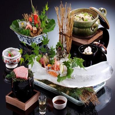 【楽天スーパーSALE】5%OFF涼風(りょうふう)旬食材&A5等級但馬牛ロース+岩牡蠣1品付