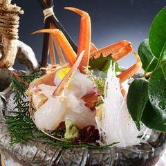 【昼食】【活・津居山蟹コース(おひとり1杯)】希少ブランド地蟹「津居山かに」を味わう蟹づくし