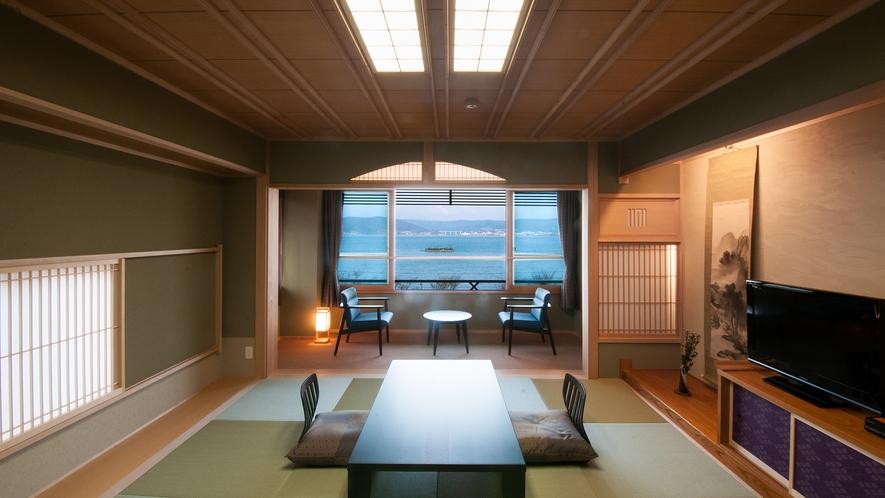 【夢屋敷 和室10畳】(諏訪湖側)