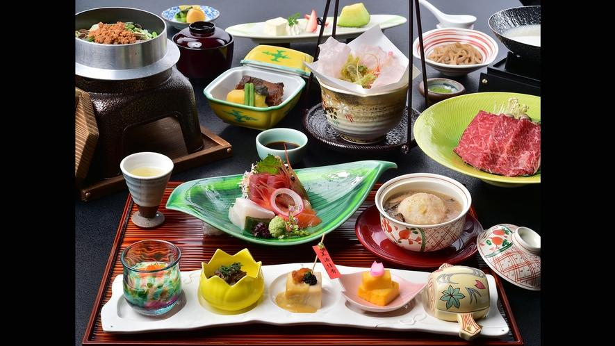 一番人気の「味覚祭」シリーズ(写真は春のお料理)