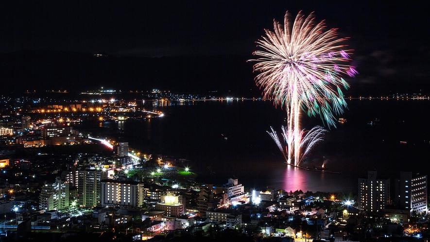 「諏訪湖で毎日花火!7月25日~8月29日◆夏の味覚祭2021プラン」をご用意しております