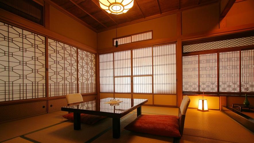 松本清張 御用達の特別室【離れ 温泉付特別室 待月】に泊まるプランをご用意しております