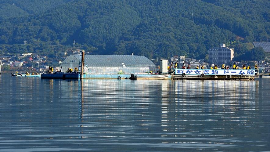 諏訪湖わかさぎ釣 ドーム船