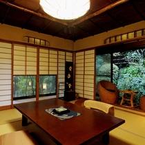 【山家荘】日本庭園に点在する離れ