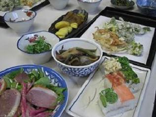 山菜料理一例