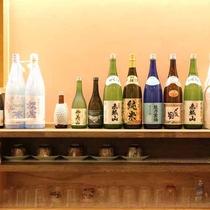 *セルフカフェ/様々な種類の日本酒等も取り揃えております。