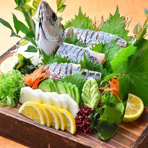 【夕食/関アジ】鮮度抜群の大分名物「関アジ」をどうぞ♪